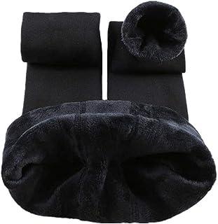Tamskyt damskie zimowe ciepłe dzianinowe legginsy z polaru linia pełna długość rozciągliwe rajstopy termiczne spodnie