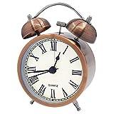 Coolzon® Reloj Despertador Doble Campana Clásico de Pilas con Loud, de Silencioso Analógico de Cuarzo sin Hacer Tictac Despertador con Luz Nocturna