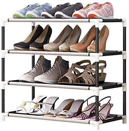 QZMX Estante de Zapatos Zapatero, Zapatos de plástico Estante de Almacenamiento, Estante (Size : 4 Tier)