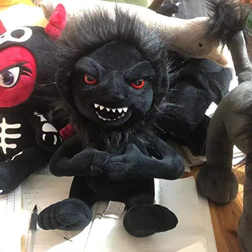 Muñecas de Estilo gótico Animal de Peluche Muñeca de tapete Negro Troll Pentáculo Gloom Anubis Negro Lolita Juguetes Muñeca Regalos de cumpleaños 35cm Troll