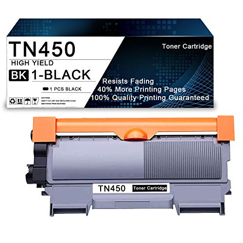 1 Pack Black TN450/TN-450 High Yield Compatible Toner Cartridge Replacement for Brother DCP-7060D DCP-7065D Intellifax 2840 2940 MFC-7240 MFC-7360N MFC-7365DN MFC-7460DN Printers Toner Cartridge.