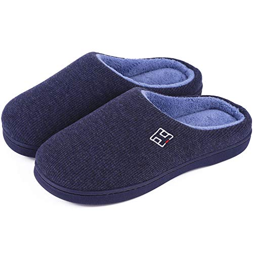Men's and Women's Classic Memory Foam Plush House Slippers, Autumn...
