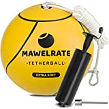 MAWELRATE Tetherball and Rope Set – Outdoor Game for Kids - Replaceable Rope - Portable Fun for The Park, Backyard – Attach Tether Ball to Any Pole or Tree with Clip - 1pc