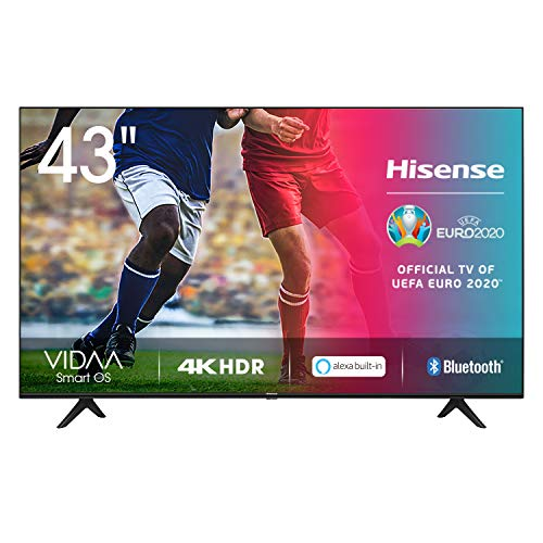 Hisense UHD TV 2020 43AE7000F - Smart TV Resolución 4K con Alexa integrada, Precision Colour, escalado UHD con IA, Ultra Dimming, audio DTS Studio Sound, Vidaa U 4.0