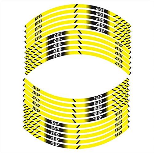 Protección de Ruedas Pegatinas de neumáticos de la Motocicleta Decoración Reflectante de la Rueda Interna Calcomanías 17 Pulgadas para B-M-W GS GS G310 F700 F800 F750 F850 F650 (Color : B)