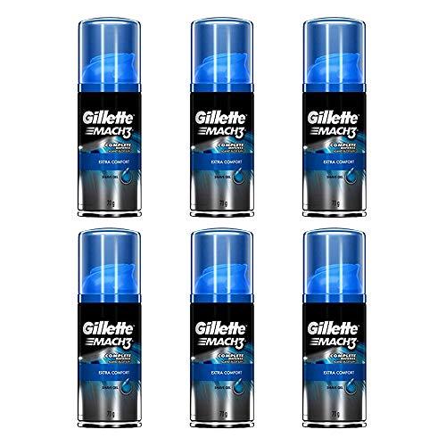 Gillette Mach3 Extra Comfort Shave Gel Shaving Cream Travel Size 2.5oz (6-Pack)