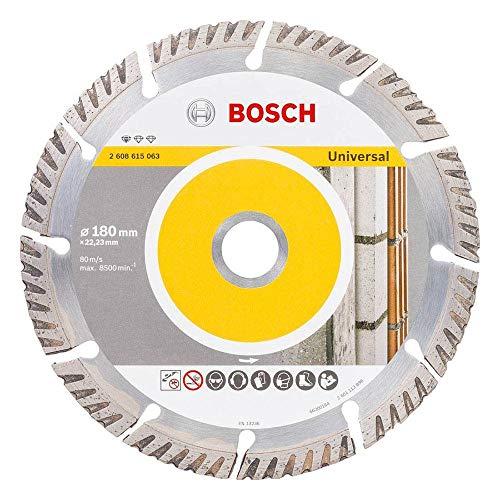 Bosch Professional Diamanttrennscheibe Standard für Universal (Beton und Mauerwerk, 180 x 22,23 mm, Zubehör Winkelschleifer)