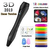 3D Stifte Set【Neueste Version 2019】Ein kompletter Satz von 12 Farben