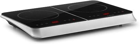 Klarstein InnoChef cocina portátil, doble cocina de inducción (3400W, control táctil, sensor de olla, temporizador apagado, 10 niveles, protección ...