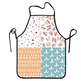 VFBGF Delantal Pattern Set Images Fashion Home Kitchen Apron for Women Men Unisex Apron Perfect for BBQ, Grill, Baking, Cooking Pattern Set Images