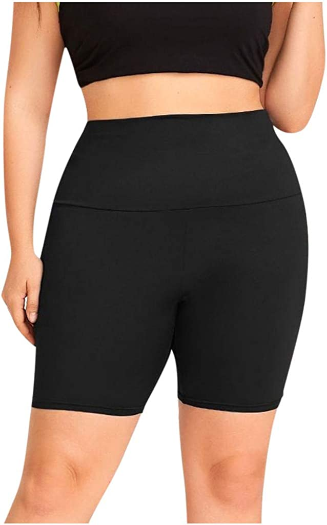 Yoga Shorts for Women High Waist Hessimy High Waist Yoga Shorts for Women Tummy Control Athletic Workout Running Shorts