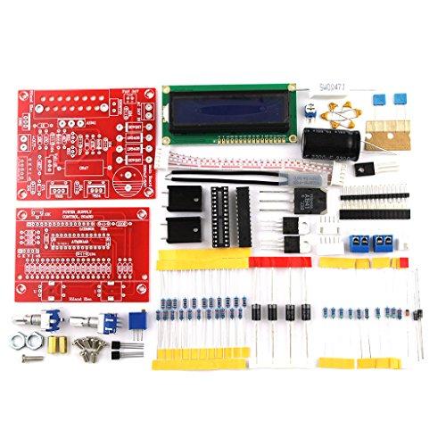 BIlinli 0-28V 0.01-2A Kit de Bricolaje con Fuente de alimentación regulada de CC Ajustable con Pantalla LCD