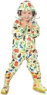 Guozyun Unisex Baby and Kids Rainsuit, Rain Coverall, Outdoors Rain Suit (1-12 Years)