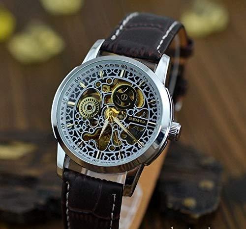 SJXIN Hochwertige mechanische Uhr, Shenhua/Uhr Damen Hohle automatische mechanische Uhr (Color : 1)