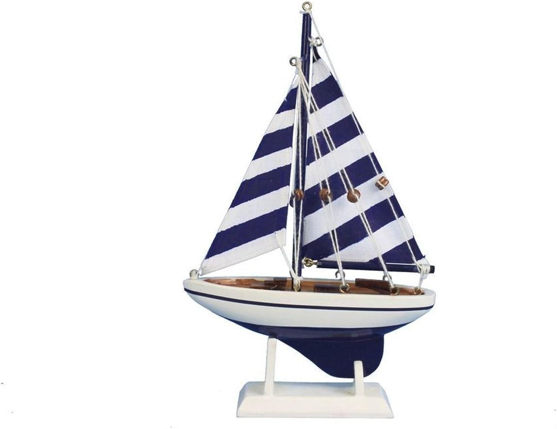 Hampton Nautical bluee Striped Pacific Sailer, 9