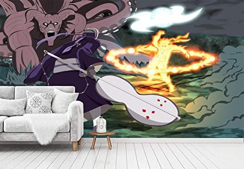 Blovsmile Uzumaki Naruto/Uchiha Sasuke Tapete Wandbild Wallpaper 3D Wohnzimmer Schlafzimmer Restaurant Wand Foto Tv Zimmer Wandkunst-300 * 250