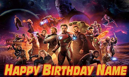 Avengers infinity wars Birthday Party Banner Personalized/Custom Decoration