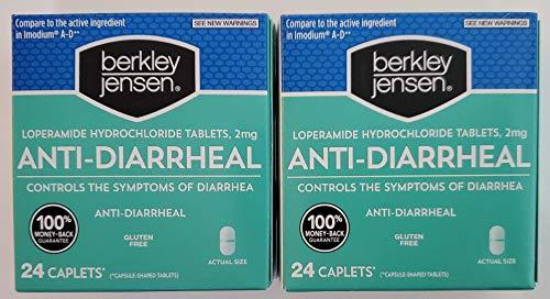 Berkley Jensen Anti-Diarrheal Medicine Loperamide Hydrochloride Tablets 2 mg - 2 Pack