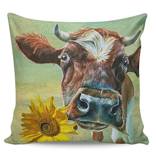 Federa decorativa per cuscino da cucina, in stile country americano, ultra morbida, per divano e camera da letto, 66 x 66 cm