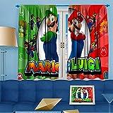 Ficldxc Super Mario - Cortina insonorizada para habitación oscura (mario tenis), poliéster, Color04, W52 x L63 Inch