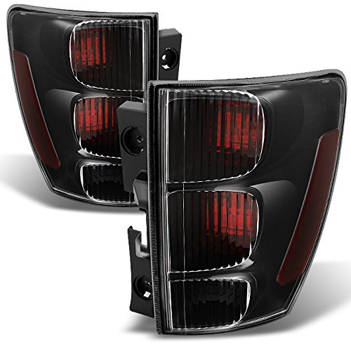 AKKON - For Chevy Equinox Rear Dark Red Tail Lights Driver Left + Passenger Right Side Replacement Pair Set