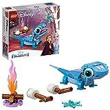 LEGO 43186 Disney Princess Frozen 2 Salamander Bruni, Set mit baubarem Charakter, Die Eiskönigin 2