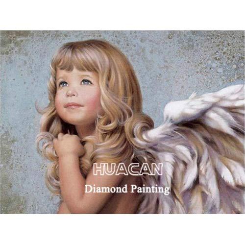 CDNY Niño Retrato-DIY 5D Kits de Pintura-Cristal Redondo Rhinestone Imagen-Artesanía para el hogar Decoración de la Pared40x50cm