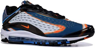 Mens Air Max Deluxe Cool Grey/Total Orange Synthetic