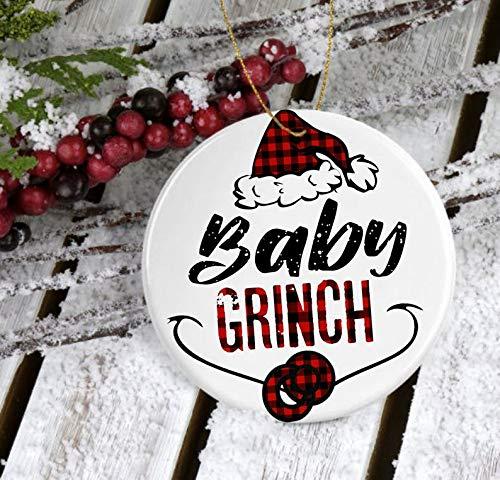 Christmas Ornament MugBaby Grinch Ornament 2020Grinch Ornament Ceramic 2020Merry Grinchmas Ornament 2020Cute Grinch Gift 2020