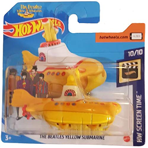 Hot Wheels The Beatles Yellow Submarine HW Screen Time 10/10 2020 Short Card