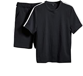 utda.sh-fs Men's Suit Short Sleeved Shorts Casual Round Neck Sports Comfortable