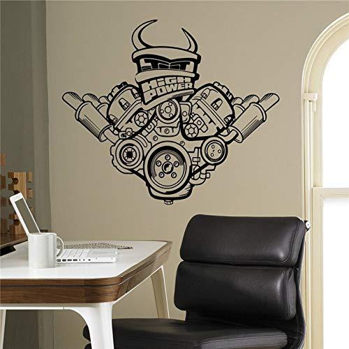 hetingyue stickers voor motor, vinyl, zelfklevend, voor binnen, huis, garage, decoratie, afneembaar, wanddecoratie