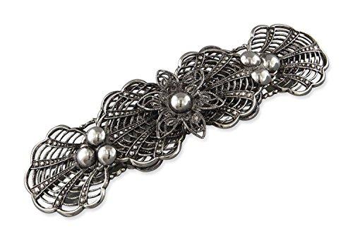 Rivelle Damen Trachten Haarspange Mina Haarschmuck Vintage Hochzeit Metall Silber