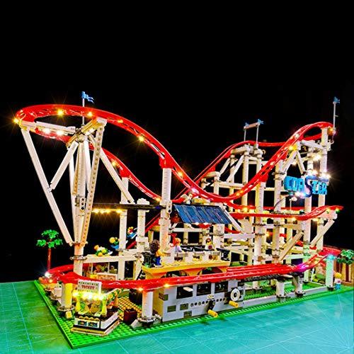 YxFlower Juego de luces LED para construcción de maquetas de Lego, juego de iluminación LED para Lego Creator Expert Achterbahn 10261 (modelo no incluido)