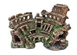 古代ローマの神殿遺跡、水族館デコレーションローマ柱ローマの建築モデルの装飾彫刻像樹脂工芸
