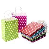 CozofLuv 30 Stück Geschenktüten Geschenktaschen Präsenttüten Papiertüten Papiertaschen Papier Tragetaschen Papiertüte Tüten mit Griff Kordel Henkel (#1)