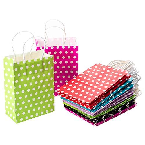 CozofLuv 30 Stück Geschenktüten Geschenktaschen Präsenttüten Papiertüten Papiertaschen Papier Tragetaschen Papiertüte Tüten mit Griff Kordel Henkel (30 Stück)