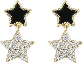BLSM-sz Pentagram design sense earrings nibble earrings female personality temperament tide earrings
