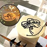 Art Gift Optical Dessert Projector -Tracing Board Copy Pad & Stand, Cake Easy Drawing Mold Sketching Tool Anime Painting Panel Crafts for Kids Adults Baking Lovers (Black)