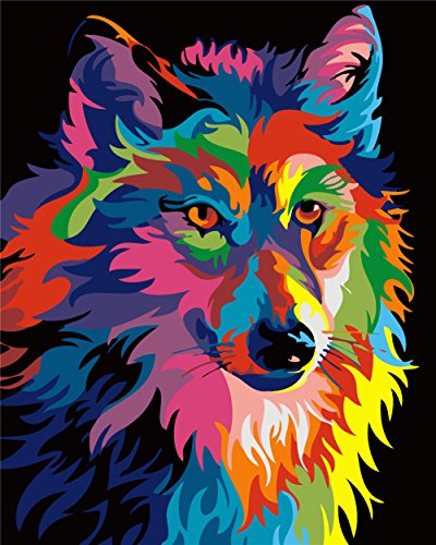 wolf color by number - 3