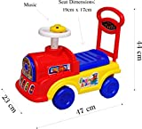 eHomeKart Playtool - Musical Baby Engine Ride-on with Backrest for Kids