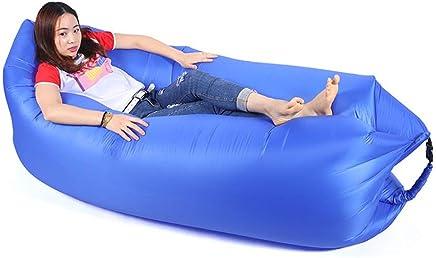 KfeiWO sleeping bag Inflatable Sofa Couch outdoor Air lounger Lazy Bed Foldable carry Polyester Beanbag waterproof Hammock Ladies Gentlemen children beach