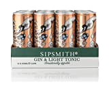 Sipsmith Ready to Drink Gin and Tonic Light, 12 x