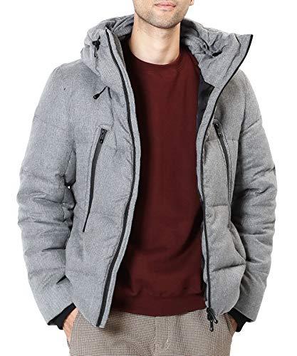 JIGGYS SHOP ダウンジャケット メンズ アウター ジャケット 防寒 軽量 厚手 3タイプ S Aミックスグレー