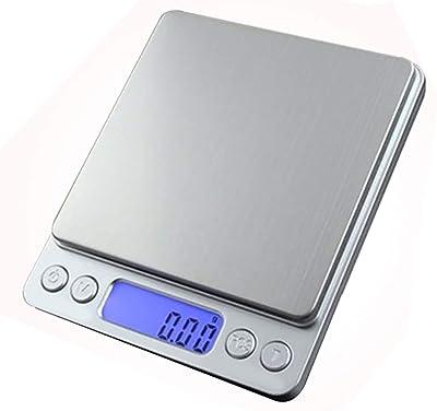 キッチンスケール 0.01g単位 デジタルスケール 高精度 はかり デジタル 最大計量500g クッキングスケール 風袋引き機能 料理 電子はかり