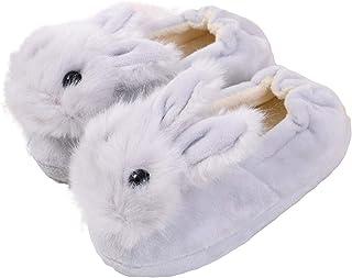 BigBig Style Chaussons d'hiver chauds antidérapants pour enfants avec élastique Motif lapin