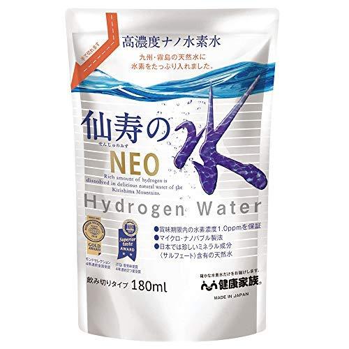 【健康家族】 高濃度ナノ水素水仙寿の水NEO (せんじゅのみずネオ) 【スタンドタイプ30本セット】 1本180ml×30本 高濃度水素水 製造から1年以内の水素濃度1.2ppm保証