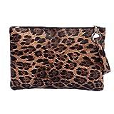 Fenical pochette borsa leopardo pochette elegante borsa da sera per donna donna - leopardo marrone