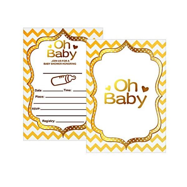 30 Baby Shower Invitations with Envelopes,Sprinkle Invite for Boy or Girl.