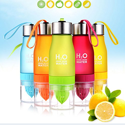 Bazaar 650ml H20 Waterfles Draagbaar Sap Citroen Fruit Infuser Cup